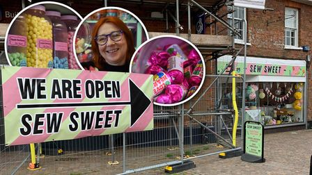 Parker Technical Services, DJ Oakley Scaffolding and Nationwide pitched together and brought a sign for Sew Sweets