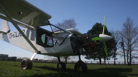 The Nuncats' electric aircraft, powered by solar and being developed at Old Buckenham