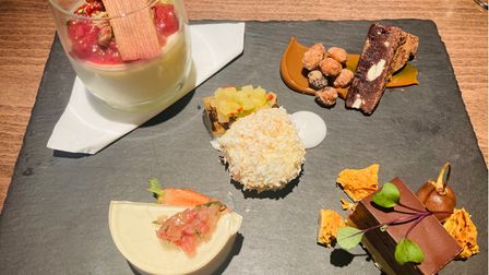 A selection of desserts at The Crown and Castle, Orford