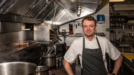 Jake Lawrence, head chef at The Crown and Castle, Orford