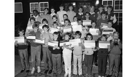 Bury St Edmunds Cricket Club Youth Awards Night in October 1986