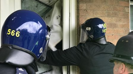 This could be your door next. Norfolk police warn drug dealers in Norwich as they raid a property in