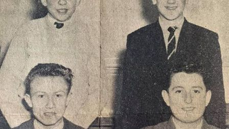 Ely Youth Club Team county public speaking competition at Chatteris in February 1960