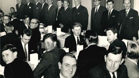 Ely Rugby Club'sannualdinner about 1960-2,held in The Lamb Hotel.