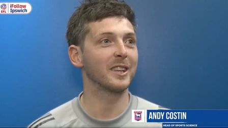 Ipswich Town's new head of sports science Andy Costin. Photo: ITFC