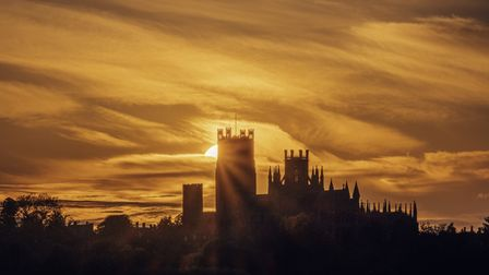 It was great to capture the sunset starburst over Ely Cathedral just before the sun disappeared behind the clouds.