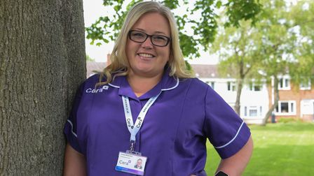 Linsey McFarlane. from Badersfield, who nearly died from COVID has now become a carer. Picture: Dani