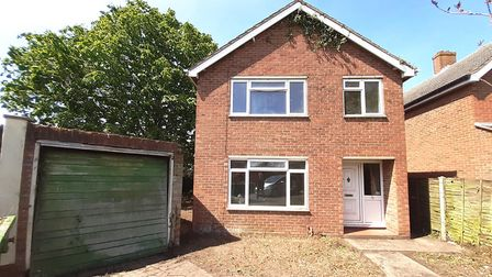 A three bedroom detached house in Copdock that is up for sale by auction for £130,000