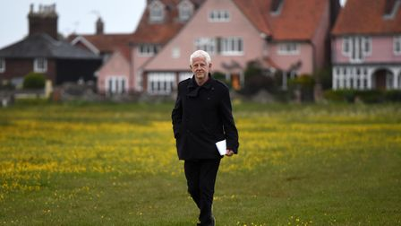 Richard Curtis at the outdoor screening of his film Yesterday in Southwold