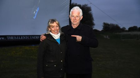 Richard Curtis with Hannah Wright, Southwold's town development manager, at the screening of Yesterday