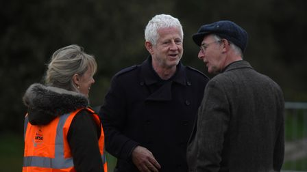 Richard Curtis attended an outdoor screening of his film Yesterday in Southwold for a Q and A session