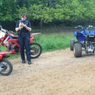 Police seized a trio of bikes being ridden illegally in Thetford Forest