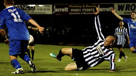 Luke Tuttle and his team-mates in the black and white of Dereham will be aiming to bounce back this