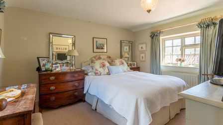 One of the bedrooms at Chequers in Brome