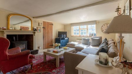 An interior at Chequers in Brome, a period property which is currently on the market