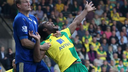 Cameron Jerome is fouled by Robert Huth but no penalty was given - just one of many talking points i