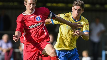 Jack Friend, right, got off the mark for the Linnets last night. Picture: MATTHEW USHER