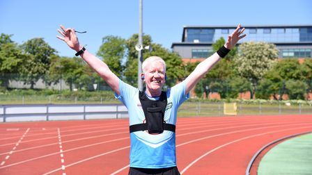 Billy Cornish has ran a virtual Marathon in 3 hours 33 minutes Picture: CHARLOTTE BOND