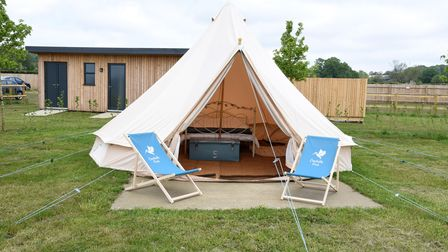 Owners Sarah and Ian of Constable Park glamping site in Brantham Picture: CHARLOTTE BOND