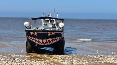 The Wash Monster in action on Hunstanton beach.
