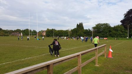 The clean up at Topsham RFC