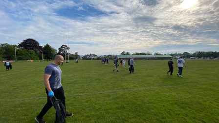 Topsham community restoring the rugby pitch