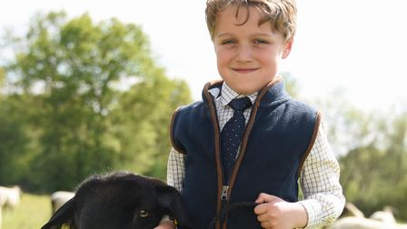 Ted Stocking, six, who would have been competing in the Young Handlers competition at the Suffolk Sh
