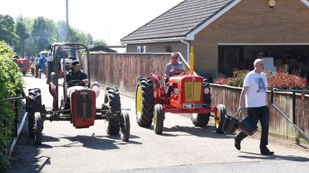 Fenland Farmers'tractor run for the Magpas Air Ambulance charity.