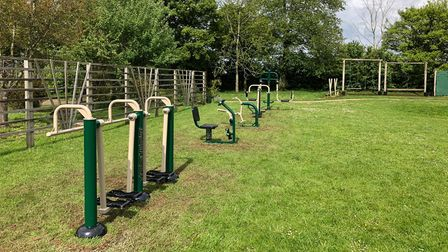 New outdoor gym equipment at Thomas Bullock Church of England Primary Academy in Shipdham