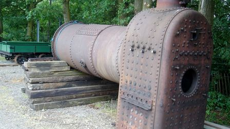 The boiler of the railway's own locomotive
