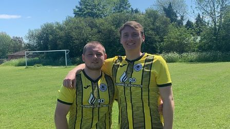AlexBlake and George Paola of High Easter FC