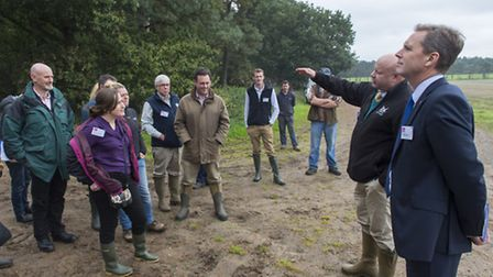 Prince's Seeing is Believing visit, led by Dr Andy Wood of Adnams and Peter Simpson of Anglian Water
