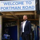 Mark Ashton, the new CEO of Town, at Portman Road today