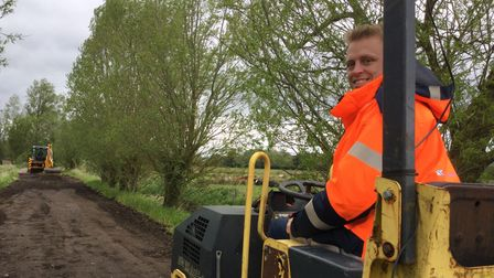 Nick Holmes, director of operations and Hopkins and Moore, at Locks Lane in Geldeston.