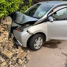 This car crashed into a wall in Sand Street, Soham, at about 6.25am on Tuesday (June 1).