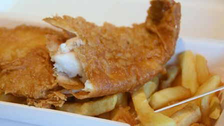 Fish and chips at French's, Wells' fish and chip shop. Picture: DENISE BRADLEY