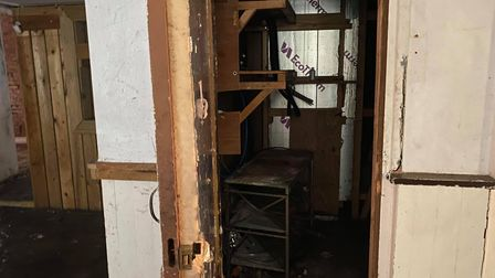 Inside the derelict former pub and live entertainment venue George's in March, which has been up for sale for a year.