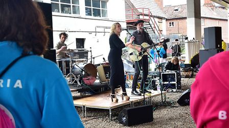 Magdalen Street Celebration. Stromm perfoming for the crowds.Picture: ANTONY KELLY