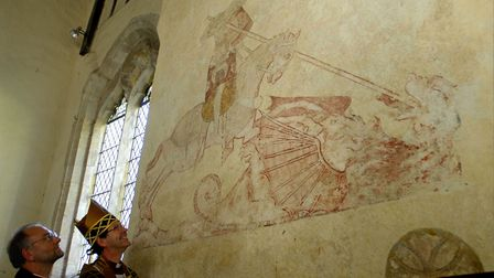 The conserved medieval wall paintings at St. Mary's Church in Troston
