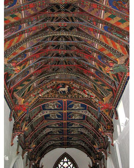 The incredible painted ceilings ofChurch of St Mary, Huntingfield