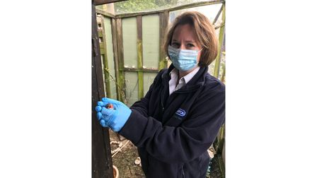 RSPCA inspector Emily Astilberry with one of the birds