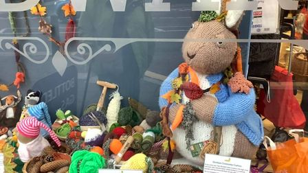 Dereham Community Crafters window-decorating competition 2019