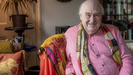 Henry Blofeld OBE pictured in his Norfolk cottage where he isperforming his new show
