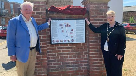 Pictured: Paul Richards with King's Lynn and West Norfolk deputy mayor Lesley Bambridge.