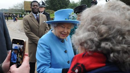 The Queen, pictured at Sandringham. Pic: EDP