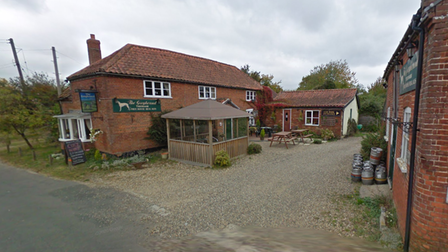 Greyhound Pub in Tibenham where plans for seven holiday lodges were approved