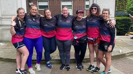 Abbie Moyse from Fakenham took part in 'the final trek' for Rugby against Cancer.
