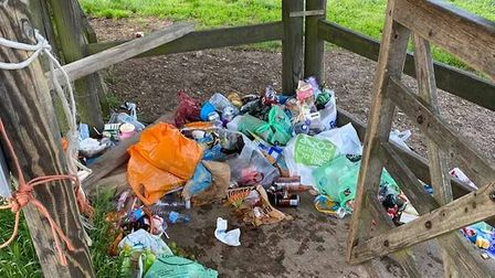 Dedham residents were disgusted by the pile of litter left by the River Stour