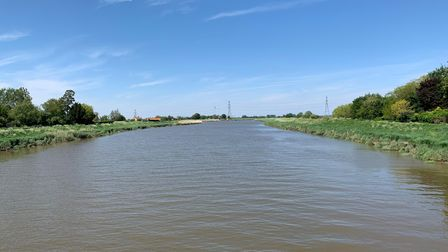 View of the River Great Ouse from Lynn Road in Wiggenhall St Germans.