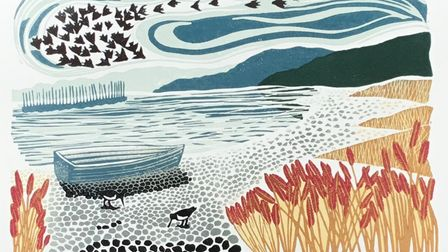 Coming in to Land by printmakerHelen Maxfield